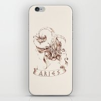 aries iPhone & iPod Skins featuring Aries by Morgan Ofsharick - meoillustration