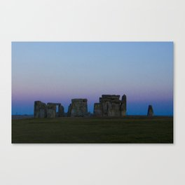 Stonehenge In Pink Canvas Print
