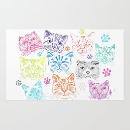Cats heads Rug