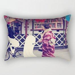 w a l k i n g i n t o k y o Rectangular Pillow