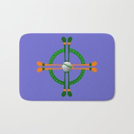 Hurley and Ball Celtic Cross Design - Solid colour background Bath Mat