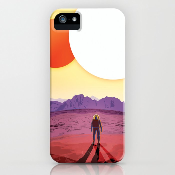 nasa retro space travel poster #8 kepler 16b iphone case
