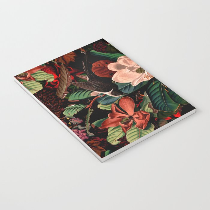 FLORAL AND BIRDS XIV Notebook