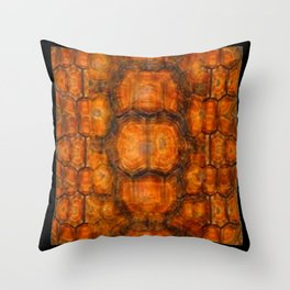 TEXTURED NATURAL ORGANIC TURTLE SHELL PATTERN Throw Pillow