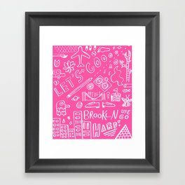 Let' Go Framed Art Print