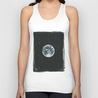 the moon Tank Tops featuring Moon by Laia™