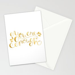 You Are Enough - Faux Gold Foil Stationery Cards