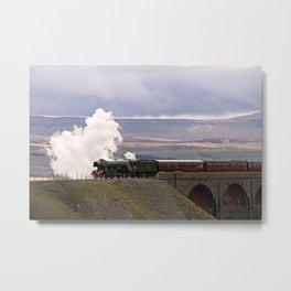 60103 Flying Scotsman at Ribblehead Metal Print