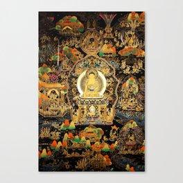 Buddha Life Autumn Gold Thangka Canvas Print