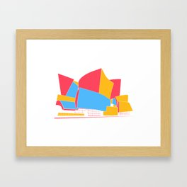 Concert Hall - Los Angeles - California - Frank Gehry Framed Art Print