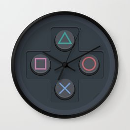 PlayStation - Buttons Wall Clock