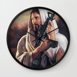 Assault Rifle Messiah Wall Clock