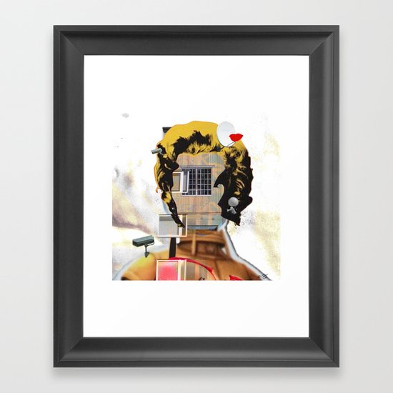 Rebuild Marilyn´s Head - THE ICON Framed Art Print