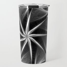 Gray Kaleidoscope Art 16 Travel Mug