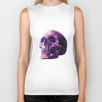 skull Biker Tanks featuring Skull by Roland Banrevi
