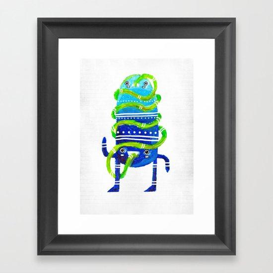 Mr Tubeface Framed Art Print