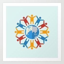 World of people Art Print
