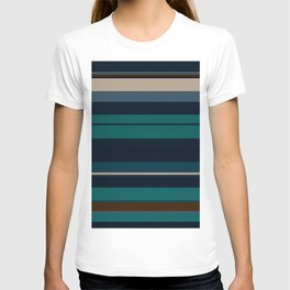 minimalistic horizontal stripes pattern hbi T-shirt