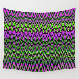 Making Waves Neon Lights Wall Tapestry