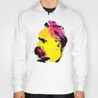 nietzsche Hoodies featuring Friedrich Wilhelm Nietzsche by DIVIDUS
