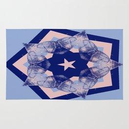 Tilting Serenity Rose Quartz Star Rug