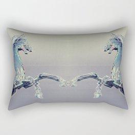 Glitch Horse Rectangular Pillow