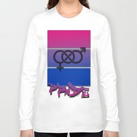 bisexual Long Sleeve T-shirts featuring Bisexual Pride! by Creature Creation Cafe