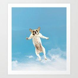 Flying Dogs Art Print