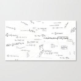 Mathspace - High Math Inspiration - Inverted Color Canvas Print