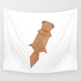 Origami Sea Otter Wall Tapestry