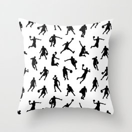 Basketball Players Throw Pillow