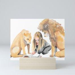 Read Between the Lions Mini Art Print