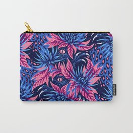 Hidden Creatures - Blue / Peach Carry-All Pouch