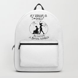social worker disabled help Halloween social area  Backpack