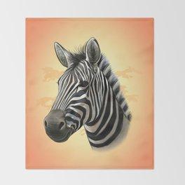 African Zebra Throw Blanket