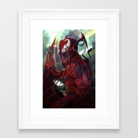 carnage Framed Art Prints featuring Carnage by corverez