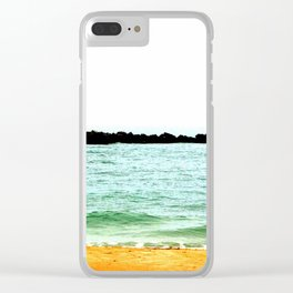 Turquoise Beach Scenery Clear iPhone Case