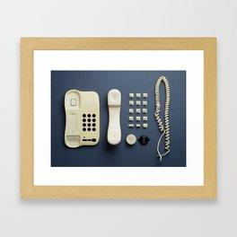 Parts of vintage home telephone Framed Art Print