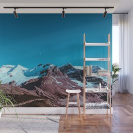 Clear Blue Bright Night Sky Wall Mural