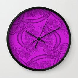 Dazzling Violet Fractal Wall Clock