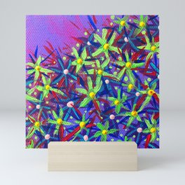 Floral Scatter Mini Art Print