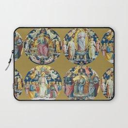 """Raffaello Sanzio da Urbino """"Ceiling Of The Stanza Dell Incendio Del Borgo"""" Laptop Sleeve"""
