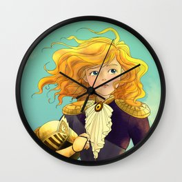 Tammy Wurtherington Freedom Fighter: Aqua Wall Clock