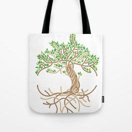 Rope Tree of Life. Rope Dojo 2017 white background Tote Bag