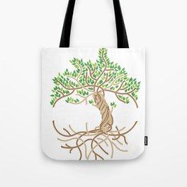 Rope Tree of Life. Rope Dojo 2017 white background Tote Bag