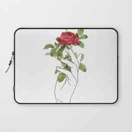 Flower in the Hand Laptop Sleeve