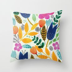 Flower Mayhem Throw Pillow