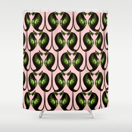 she's a maneater pink Shower Curtain