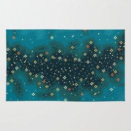 Blue Rift Galaxy (8bit) Rug