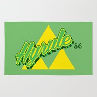 hyrule Area & Throw Rugs featuring Hyrule by Head Glitch